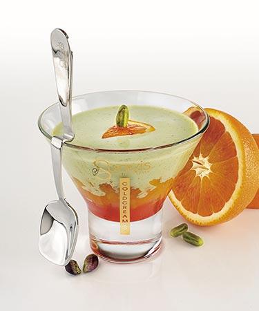 crème glacée à la pistache et orange